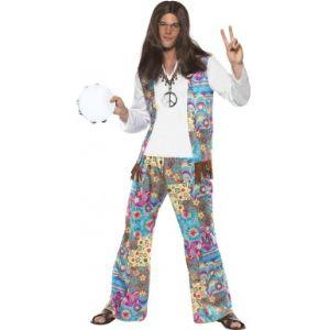 Smiffy's Déguisement de hippie pour homme (taille M ou L)