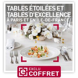 Smartbox Tables étoilées et tables d'excellence à Paris - Coffret cadeau