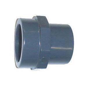 Centrocom Embout en PVC taraudé - Mâle à coller / Femelle à coller / Femelle à visser - Diamètres 40/32 - Taraudage 26/34