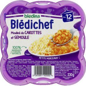 Blédina Bledichef 230g mouliné de carottes et semoule dès 12 mois