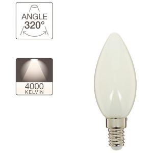 Xanlite Ampoule à filament LED flamme, culot E14, 4W cons. (40W eq.), lumière blanche neutre