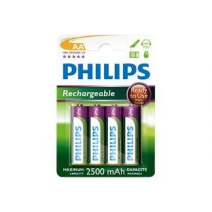 Philips R6B4RTU25/10 - 4 pc Pile rechargeable AA MULTILIFE NiMH/1,2V/2500 mAh