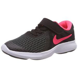 Nike Kinder Laufschuh Revolution 4, Chaussures De Course Mixte Enfant - Noir (Black/Racer Pink. 004), 35 EU