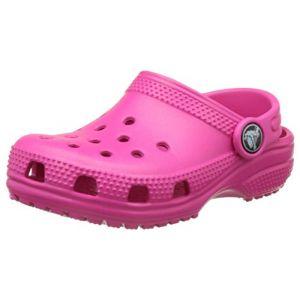 Crocs Classic Clog Kids, Sabots Mixte Enfant, Rose (Candy Pink), 33-34 EU