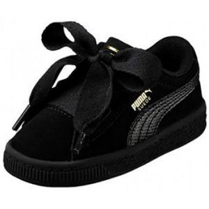 Puma Suede Heart SNK PS, Sneakers Basses Fille, Noir Black Black, 32 EU