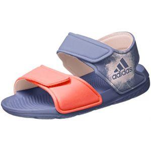 Adidas Altaswim, Sandales Bout Ouvert Mixte Enfant, Violet (Super Purple/Haze Easy Coral), 28 EU