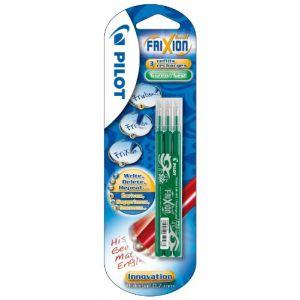 Pilot 3 recharges vertes pour stylo Frixion