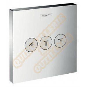Hansgrohe ShowerSelect pour robinet d'arrêt 3 sorties chromé - Set finition