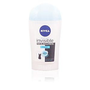 Nivea Invisible for Black & White Fresh - Déodorant stick anti-traces 48h