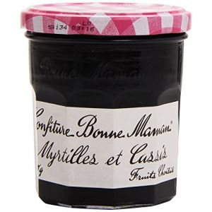 Bonne Maman Confiture de myrtille cassis - Le pot de 324ml