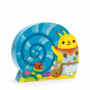 Djeco Puzzle Silhouette: La cueillette de l'escargot