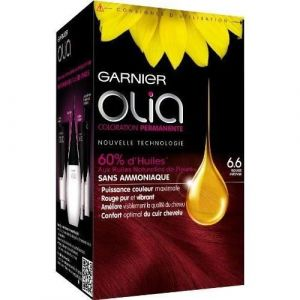 Garnier Olia 6.60 Rouge Intense - Coloration permanente à l'huile sans ammoniaque