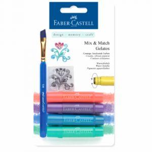 Faber-Castell Crayons Gelatos 4 nuances métal
