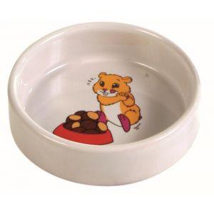 Trixie Écuelle en céramique pour hamster, 90 ml / ø 8 cm
