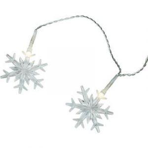 Guirlande lumineuse à motifs pour l'extérieur 12-C004 Ampoule LED blanc chaud flocons de neige