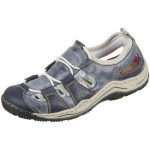 Rieker L0561, Sneakers Basses Femme, Bleu (Navy/Atlantic/kornblume/Beige), 42 EU
