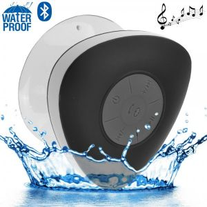 Yonis Mini enceinte Bluetooth triangle main libre ventouse waterproof