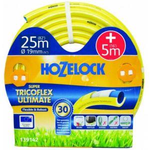 Hozelock Tuyau arrosage 25m diam 19mm + 5m tricoté 5 couches super tricoflex ultimate ultra léger, souple et robuste