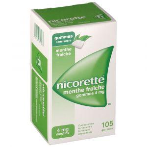 Johnson & Johnson Nicorette menthe fraîche s/s 4 mg - 30 Gommes à mâcher