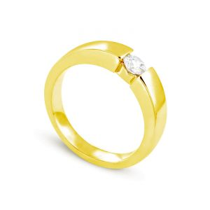 Rêve de diamants 3612030095429 - Bague en or jaune sertie d'un diamant