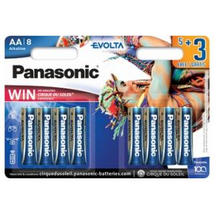 Panasonic Pile LR6EGE/8BW 5+3F CdS
