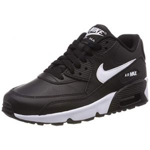 best cheap 9fad2 294a3 Nike Chaussure Air Max 90 Leather pour Enfant plus âgé - Noir ...