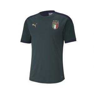 Puma Maillot d'entraînement Italia pour Homme, Vert/Bleu, Taille S