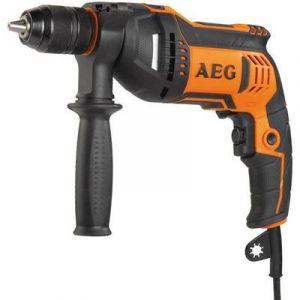 AEG Perceuse à percussion Powertools SBE750RE 750 W 1 vitesse avec mallette