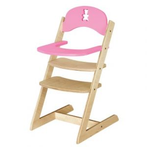 JB-Bois Chaise haute nounours en bois