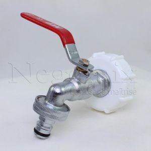 Negomix Robinet arrosage laiton cuve à eau
