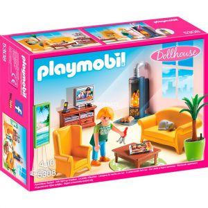 Playmobil 5308 Dollhouse - Salon avec cheminée