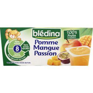Blédina Coupelles de fruits Pomme Mangue Passion 4 x 100 g - dès 8 mois