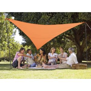 Morel VK 360 - Kit complet d'ombrage Serenity Outdoor avec voile triangulaire 3,60 m, 2 mâts, 3 cordes et 3 piquets