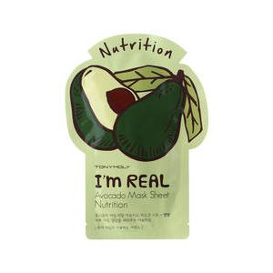 Tonymoly I'm Real Avocado Mask Sheet Nutrition - Masque tissu nourrissant à base d'avocat