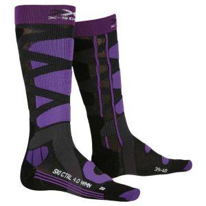 X-Socks Chaussettes Ski Control 4.0 Lady Femme, Noir/Violet, FR : M (Taille Fabricant : M(39-40))