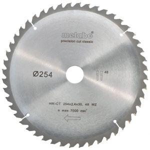Metabo 628061000 Lame de scie à onglets et radiale pour KGS 254 M Precision cut 254 mm 48 dents