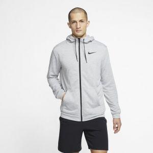 Nike Sweatà capuche de training entièrement zippé Dri-FIT pour Homme - Gris - Taille XL - Male