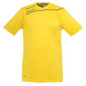 Uhlsport Stream 3 Manches Courtes Maillot Homme, Jaune/Noir, FR : M (Taille Fabricant : M)