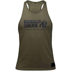 Gorilla wear Gym Shirt Homme - Débardeur Classique Stringer - S à 3XL Bodybuilding Muscle Fitness Muscle Shirt Army Green L