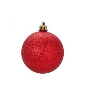 25 boules de Noël rouge (6 cm)