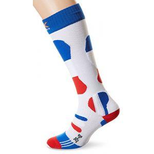 X-Socks Chaussettes de ski X socks Ski patriot france Blanc 10616