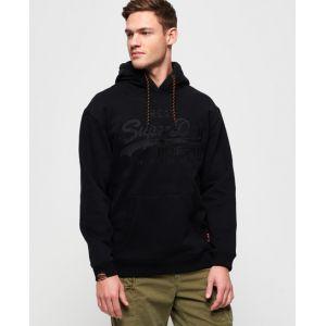Superdry Vintage Logo Applique Hood Sweat-Shirt À Capuche, Noir (Black 02a), Large Homme