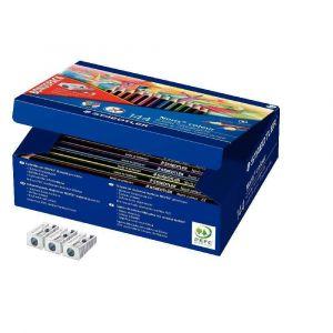 Staedtler Recharge Classpack 144 crayons de couleur Noris + 3 tailles-crayons offerts