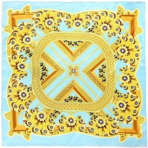Allée du foulard Carré de soie Premium Aleja Turquoise