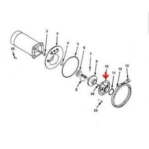 Procopi 580118 - Distributeur bague en laiton de pompe Sta-Rite P4R