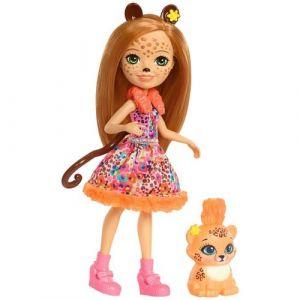 Mattel Enchantimals - Coffret poupée + figurine guépard