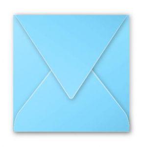 Clairefontaine 12039C - Enveloppe Pollen 120x120, 120 g/m², coloris bleu lavande, en paquet cellophané de 20