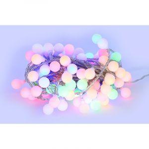 SysLED Guirlande LED 10 mètres 100 boules RGB multicouleur ( guinguette )