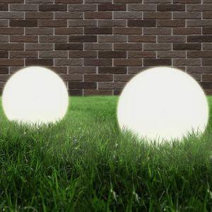 VidaXL Lampe à LED sous forme de boule 2 pcs Sphérique 40 cm PMMA