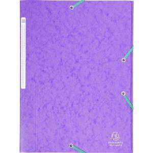Cartorel Chemise à élastique 3 rabats carte lustrée 5/10e